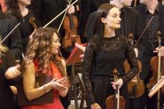 soprano Estrella Cuello y violín concertino Silvia Cadenas