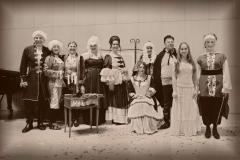 Estrella Cuello Soprano con el elenco principal de la Boheme de Bolonia