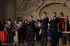 Estrella Cuello recibe flores tras su actuación en Bolonia como Musetta