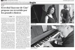 Reseña Diario Alerta Cantabria 5 agosto Jazz Me