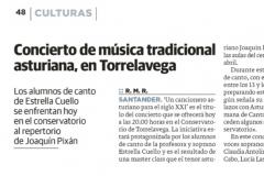 Reseña Diario Montañes 5 de abril Concierto Pixan