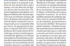 Reseña Diario Montañes Noches de Ópera y Zarzuela en el Torco