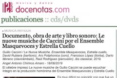 Reseña Doce Notas CD Caccini