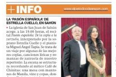 Reseña Periodico de Aragon 2 de agosto