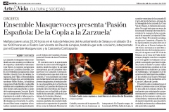 Reseña concierto Selaya y Limpias Diario Alerta 10 octubre