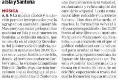 reseña Diario Montañes Isla y Santoña